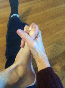 "Shaking ""hands"" with my foot"
