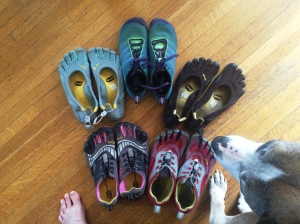 Vibram Five Finger and Merrel Vapor Glove