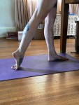 Top of foot stretch